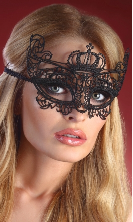 7 królewska maska na oczy z koronki