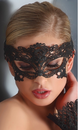 4 maska na oczy koronkowa