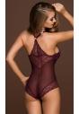 Oriane erotyczne body w kolorze fioletowym