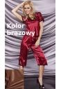 Irina brązowa piżamka z satyny do 10XL