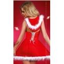 Snowflake strój mikołajki sukienka z tiulu