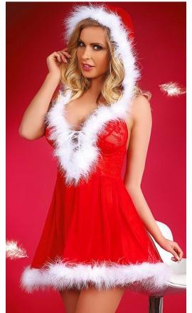 Snowflake mikołajkowa sukienka z tiulu