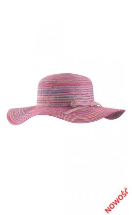 F65-KAP4 wielokolorowy kapelusz na plażę