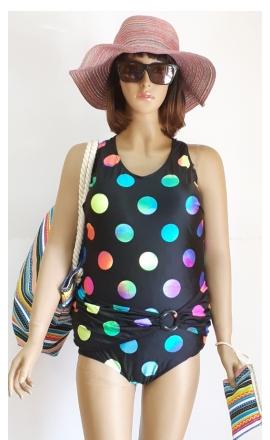 Sara 2 strój kapielowy w kolorowe grochy