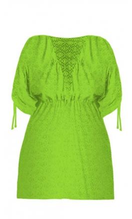 Plażowa tunika w kolorze zielownym 209