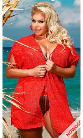 Tunika plażowa 209 w kolorze czerwonym