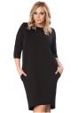 Sukienka klasyczna czarna plus size