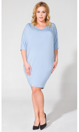 Sukienka PS1 plus size niebieska