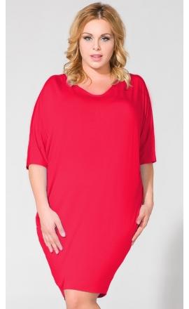 Sukienka XXL PS1 w kolorze krwistej czerwieni