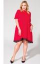 Sukienka T107 czerwona size plus