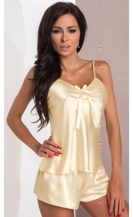 Piżama satynowa w kolorze beżowym