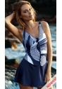 sukienka kąpielowa granatowa z wzorem