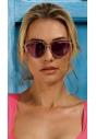 Przeciwsłoneczne okulary pozłacane