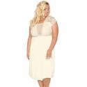 Koszulka nocna 504 bielizna ślubna w dużym rozmiarze