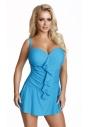 509 niebieska sukienka kąpielowa