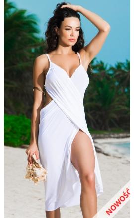 Tunika na plażę biała