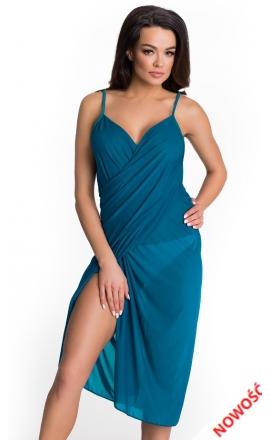 Sukienka plażowa w kolorze morskim