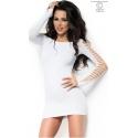 Sukienka seksowna bezszwowa CR-3608 biała