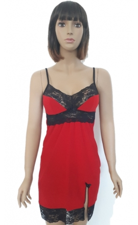 Koszulka nocna damska czerwona