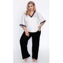 Piżama damska z wiskozy 520 w dużym rozmiarze