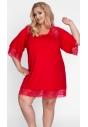 Koszulka nocna na duży rozmiar czerwona
