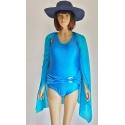 Strój kąpielowy jednoczęściowy Sara 5 niebieski z połyskiem
