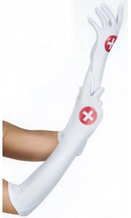 Rękawiczki pielęgniarki w kolorze białym