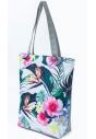 Torba plażowa materiałowa TP10WZ3 z kwiatowym printem