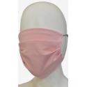 Maseczka ochronna na twarz z bawełny różowa