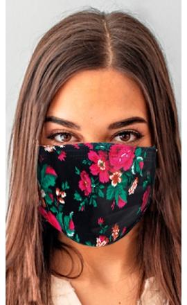 Maseczka ochronna z drukowanym worem w kwiaty print