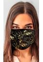 Maseczka ochronna streetwear z nadrukiem full print złoty wzór