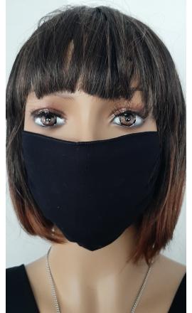 Maseczka ochronna bawełniana czarna wielokrotnego użytku