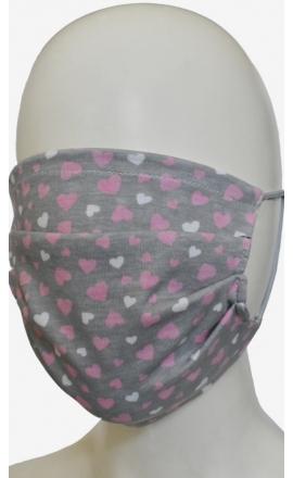Maseczka ochronna na twarz z bawełny wielokrotnego użytku szara