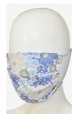 Maseczka ochronna materiałowa wzór kwiaty niebieskie