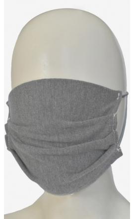 Maseczka ochronna z bawełny w jsnym kolorze szarym