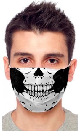 Maseczka ochronna z drukowanym wzorem czaszka