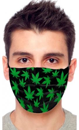 Maseczka ochronna wzór marihuana
