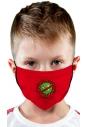 Maseczka ochronna dla dziecka czerwona z nadrukiem