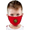 Maseczka ochronna dla dziecka w kolorze czerwonym