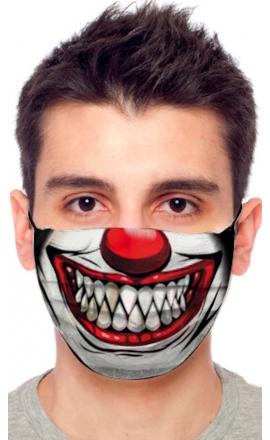 Maseczka ochronna Anais z nadrukiem ful print clown