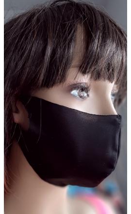 Maseczka ochronna profilowana czarna cienka