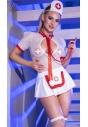 Strój pielęgniarki Chilirose CR-4365 biały