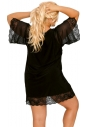 Koszulka nocna Akcent model 503 czarna tył