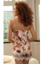 Piżama satynowa DKaren DK-KV-03 jasny róż tył