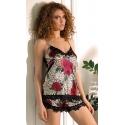 Piżama satynowa komplet nocny kolekcja flowers DK-KV-05
