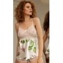 Komplet nocny piżamka satynowa kolekcja flowers DK-KA 04