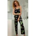 Piżama satynowa kolekcja flowers DK-KI 04