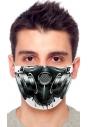 Maseczka ochronna print maska gazowa wzór 1
