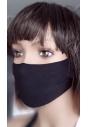 Maseczka ochronna na twarz dziecięca w kolorze czarnym