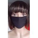 Maseczka ochronna na twarz wielokrotnego użytku czarna